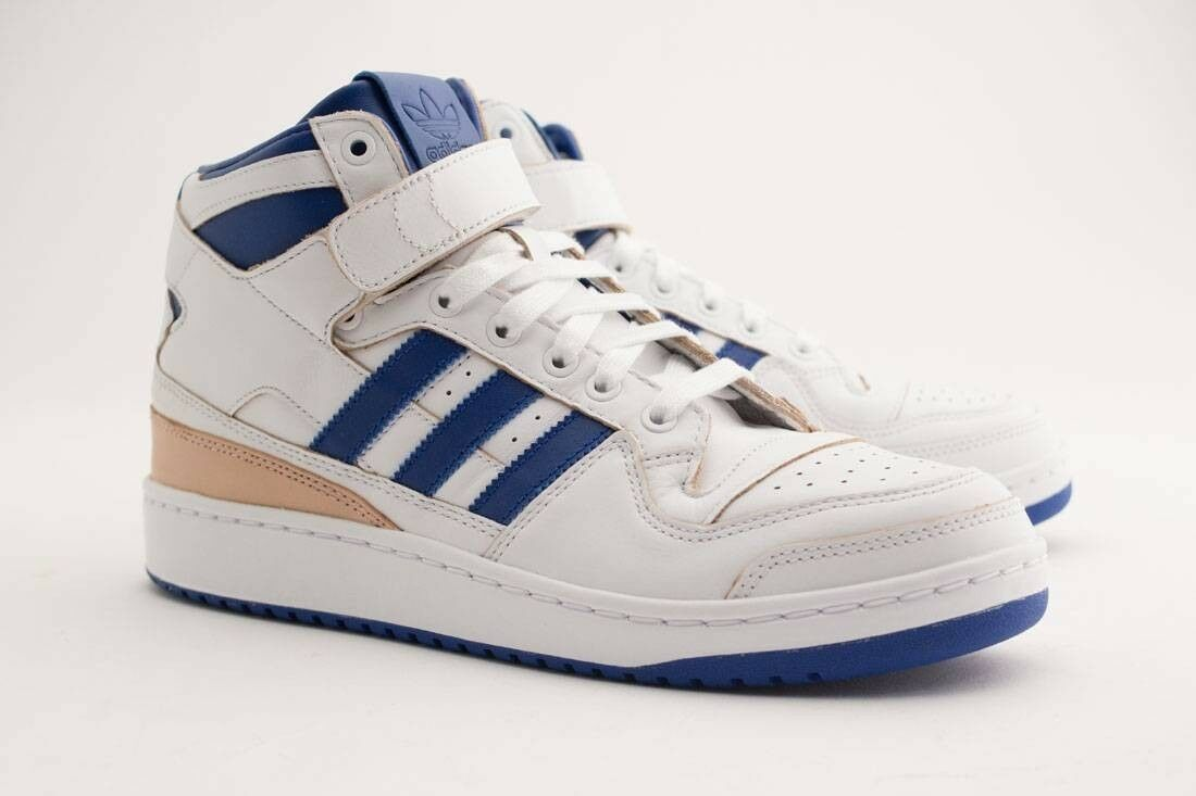 BY4412 Adidas Men Forum Mid Wrap white collegiate royal footwear white