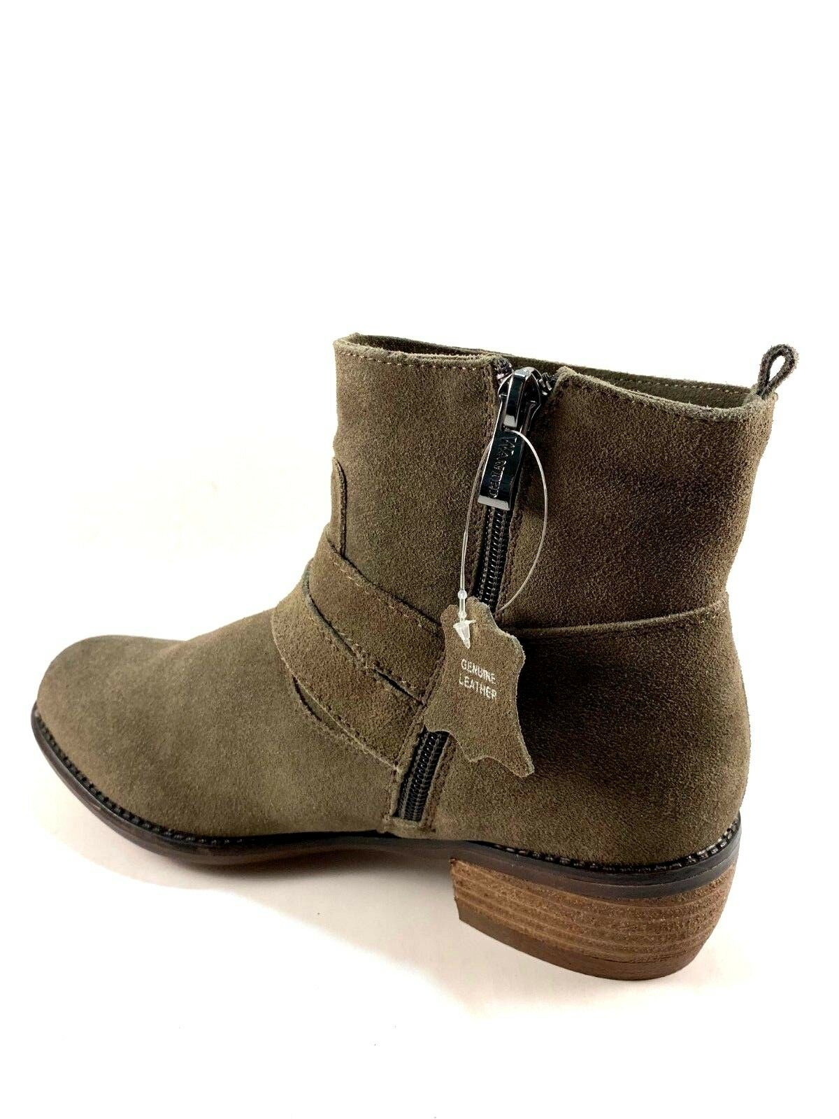 Wanted Foxwood Suede Leather Low Heel Ankle Round Toe Toe Toe Booties Choose Sz color 2aab0a