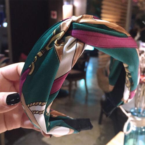 FASHION Da Donna Stampa Cerchietto Largo Fascia Croce Head Band Accessori per Capelli