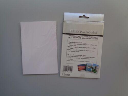 "20 Sheets  New 4/"" x 6/"" Photo Paper Matt Free P/&P"