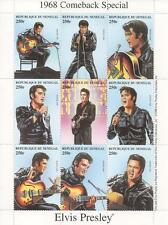 ELVIS PRESLEY 1968 COMEBACK SPECIAL REPUBLIQUE DU SENEGAL 1998 MNH STAMP SHEET