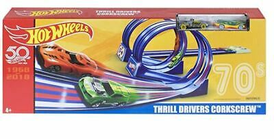 NEW Hot Wheels Thrill Drivers Corkscrew Track and Car Playset