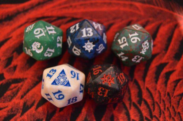 Spindown Dice Complete Set All 5 Color Dice MTG DOMINARIA