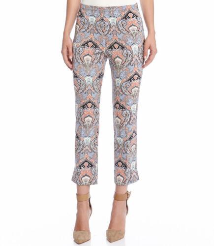 Karen Kane 4L92003 Multi-Color Dharma Print Stretch Cropped Pants $98