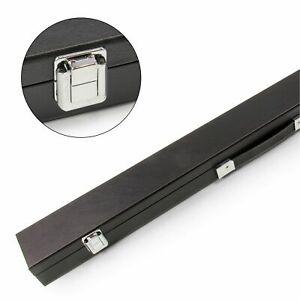 Black-CLASSIC-ATTACHE-2pc-Snooker-Cue-Case-for-Centre-Joint-Cue-Batten-Divider