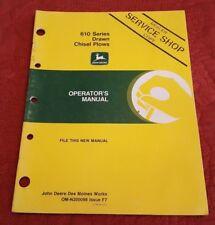 John Deere 610 Drawn Chisel Plows Operators Manual Om N200098 Issue F7
