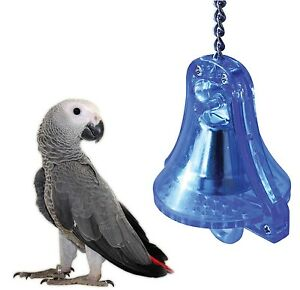 DOUBLE-RINGER-MACAW-AFRICAN-GREY-LARGE-PARROT-CAGE-TOUGH-ACRYLIC-BELL-TOY-21185