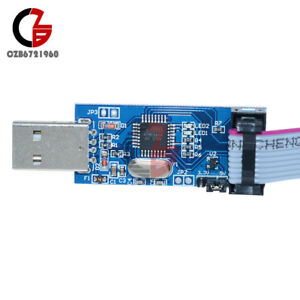 USBASP USBISP AVR Programmateur adaptateur 10 broches Câble USB ATMEGA 8 ATMEGA 128 Arduino