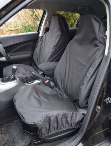 06+ HEAVY DUTY WATERPROOF FRONT BLACK SEAT COVERS 1+1 For VAUXHALL ASTRA VAN