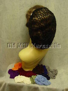 Civil-War-1940-039-s-Renaissance-faire-style-snood-hairnet-12-colors-to-choose-from