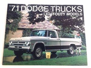 1971 Dodge Truck 12-page Original Car Sales Brochure Catalog - Pickup Ram