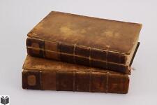 2V Noel Antoine Pluche SPECTACLE DE LA NATURE 1736-1739 Antique Natu... Lot 8035