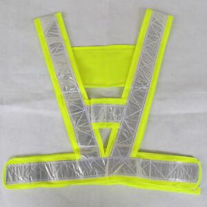 Fitness-High-Visibility-Waistcoat-Reflective-Running-Cycling-Vest-Tops-Hi-Viz
