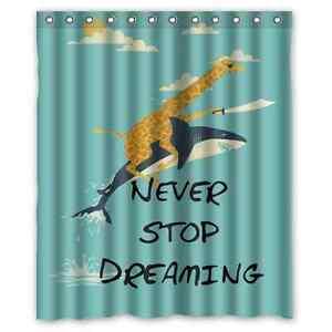 Image Is Loading New Custom Giraffe Riding Shark Never Stop Dreaming