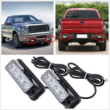 2X4 LED Car Flashing Emergency Light Grill Strobe Flash Lamp 12V Amber&White New