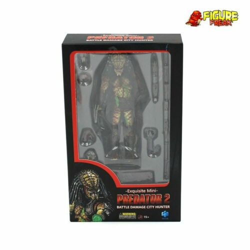 "Hiya Toys PREDATOR 2 Battle Damage City Hunter 3.75/"" ACTION FIGURE échelle 1:18"