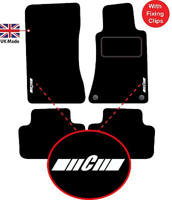 Heel Pad Perfect Fit Beige Car Floor Mats for Mercedes C Class W203 2000-2007