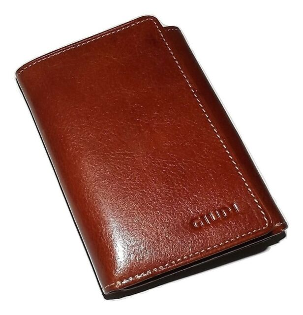 NEW GIUDI ITALIA MEN/'S TUSCAN LEATHER BIFOLD CREDIT CARD MONEY CLIP WALLET BROWN