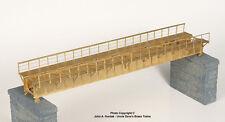 BRASS PBA-1009-0 DECK PLATE GIRDER BRIDGE 74 FOOT w/WALKWAYS SINGLE TRACK NEW