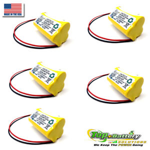 5PC-UNITECH-6200RP-3-6V-NICAD-Battery-Replacement-Emergency-Exit-Lighting