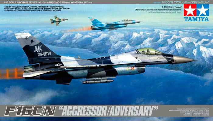 Tamiya 1 48 F-16C.N Agressor Adversary Model Kit 61106 TAM61106