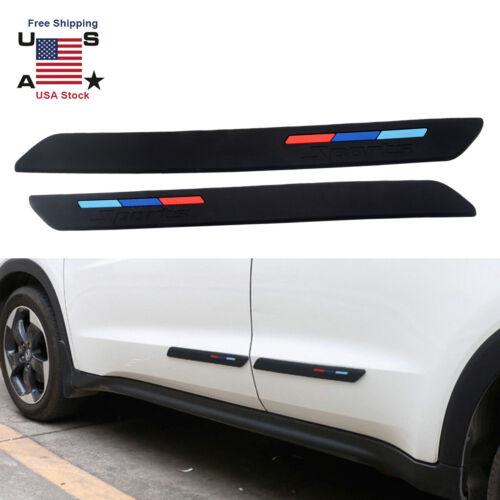 2Pcs Car Front Rear Bumper Protector Corner Anti-rub Scratch Guard Rubber Strips