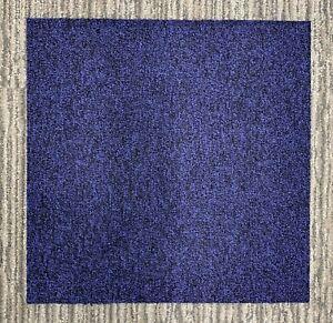 Desso Stratus Carpet Tiles Dark Blue 8901-50cm x 50cm Tiles Used.