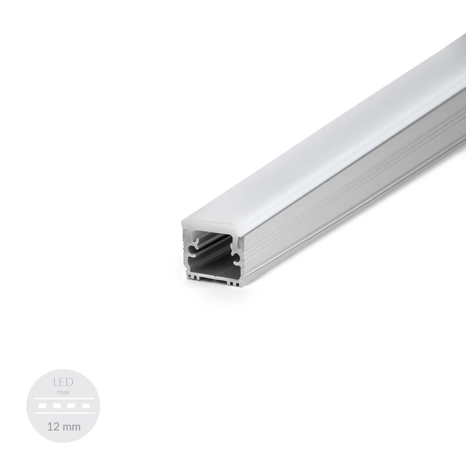 Profil LED hohe Festigkeit gegen Abrieb und Kratzer 2 Meter Endkappen FLOOR NEU    Qualitätskönigin