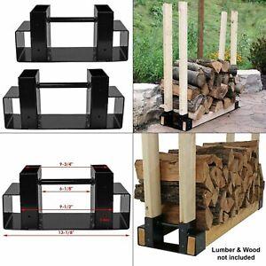 Image Is Loading Steel Firewood Log Rack Bracket Kit Adjule Home