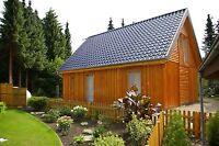 Holzrahmenhaus Rohbau mit Montage Fertighaus 7,00 x 10,00 Meter