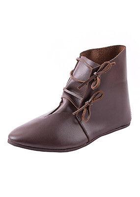 Ulfberth Spätmittelalterliche Schnürschuhe Braun Leder LARP Schuhe 36-46