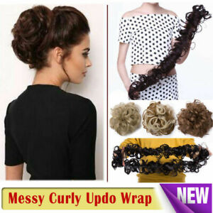 Scrunchie-Updo-Wrap-Curly-Messy-Bun-Hair-Piece-Hair-Extensions-Real-as-human-REL