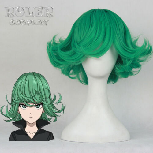 ONE PUNCH MAN Senritsu no Tatsumaki Cosplay Costume Halloween Wig Green Hair