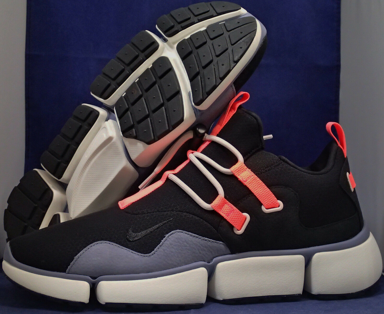 NikeLab Pocketknife DM Black Dark Sky Blue Hot Pink SZ 13 ( 910571-001 )