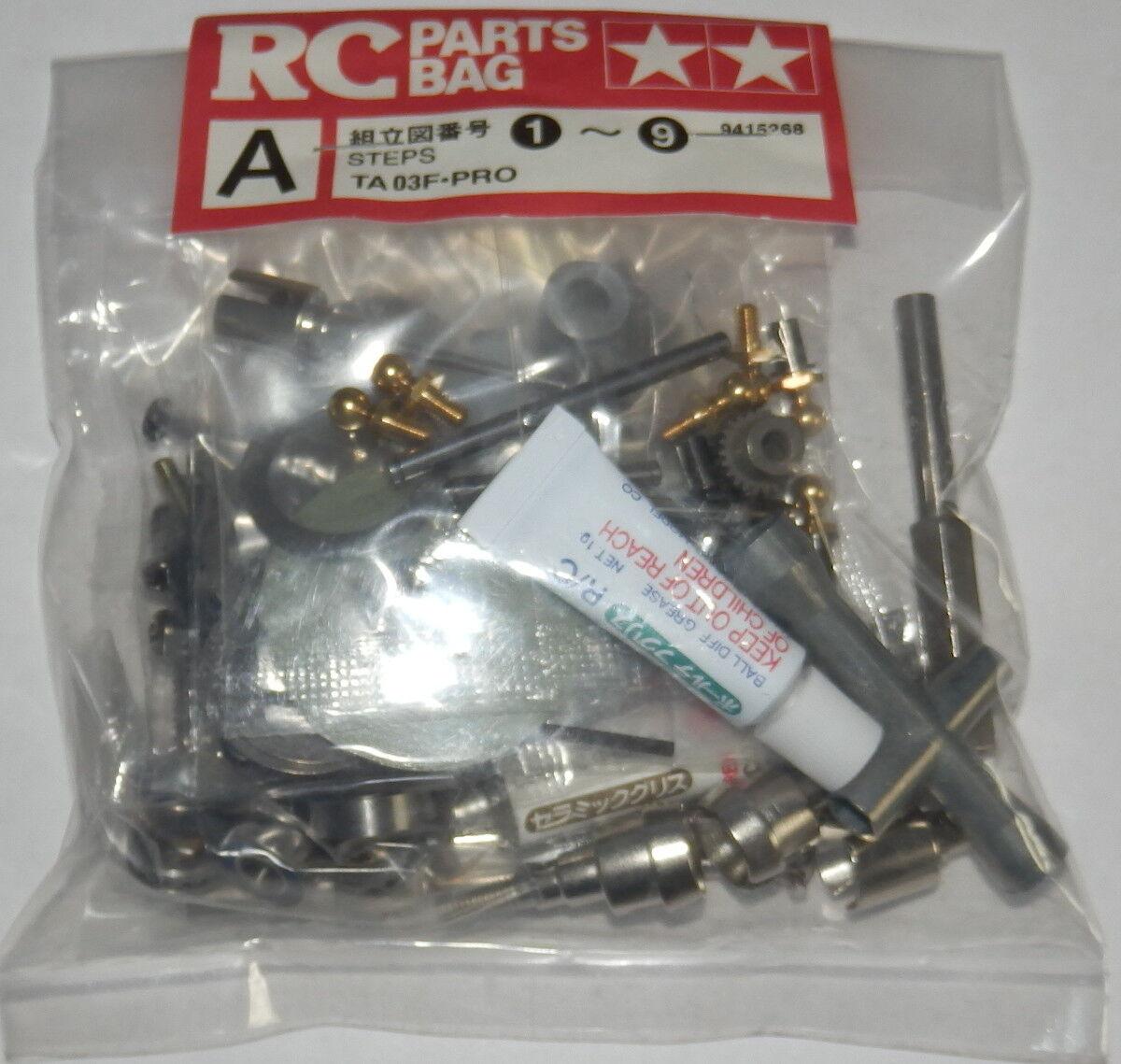 Tamiya TA03F-Pro Metal Parts Bag A NEW 9415268 58177