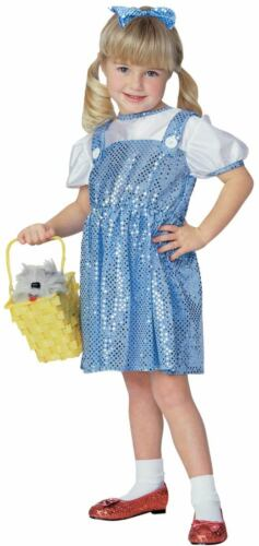 WIZARD OF OZ DOROTHY SEQUIN HALLOWEEN COSTUME GIRL/'S SMALL 4-6  AGES 3-4
