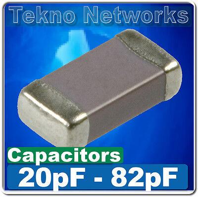 SMD/SMT 0402/0603/0805/1206 Ceramic Capacitors  -100pcs [ Range: 20pF - 82pF  ]