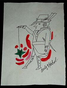 Andy-Warhol-Male-Figure-034-Leprechaun-with-yo-yo-034-ca-1953-Ink-wash-3rd-stade-COA