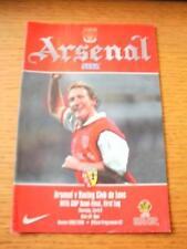 06/04/2000 UEFA Cup Semi-Final: Arsenal v Racing Club Lens  (Very Small Tear At