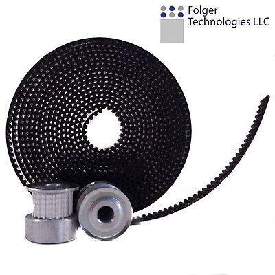 2 GT2 Timing Pulleys 20 tooth + 2.5meters of GT2 Timing belt 3D Printing REPRAP