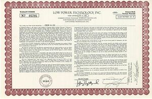 Low-Power-Technology-Inc-gt-1985-Colorado-LPTV-old-stock-certificate-share