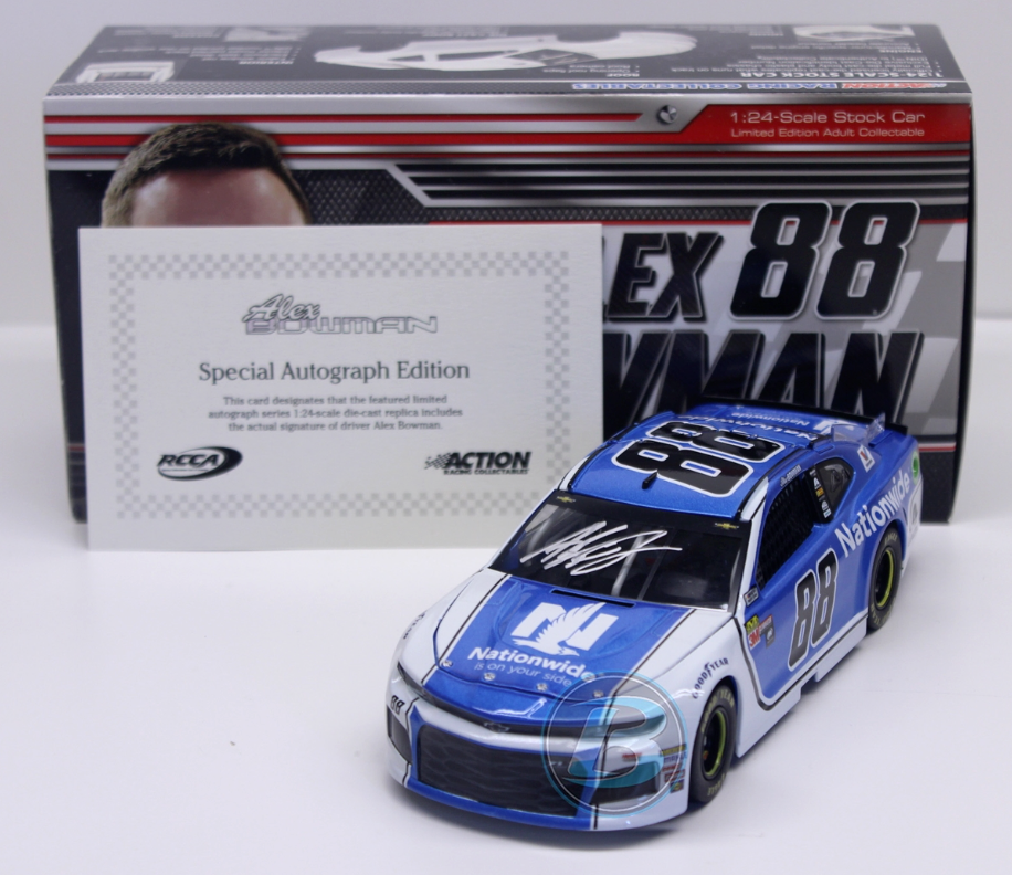 SIGNED NASCAR 2018 Alex Bowman  88 Nationwide assurance dédicacé 1 24 voiture