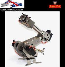 DIY 6DOF Aluminum Robot Arm 6 Axis Rotating Mechanical Robot Arm Kit NEW 2017 UK