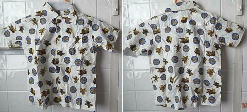 Child Size M Western Cowboy Deputy Sheriff Badge Cotton Shirt Pocket NWOT