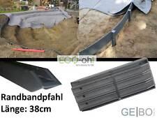 1x Ecolat Pfähle 38cm Braun ECO-oh Randband Teichrand Teich Teichband H Profil