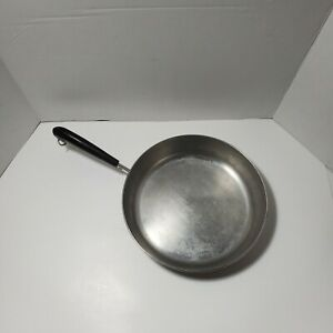 Revere-Ware-10-Inch-Copper-Bottom-Skillet-No-Lid-Light-Wear-Made-in-USA-GUC