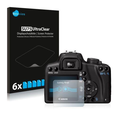 Protector de pantalla 6x para Canon EOS 1000d lámina protectora lámina claramente protector de pantalla