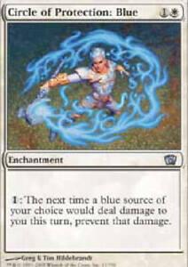 CIRCLE OF PROTECTION BLUE 8th Edition MTG Magic the Gathering DJMagic