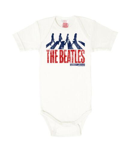 white Pop Abbey Road Babygrow Baby Romper Baby Body LOGOSHIRT The Beatles