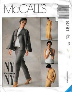 McCall-039-s-8781-Sewing-Pattern-Misses-Unlined-Jacket-Top-Pants-Skirt-Uncut-Sz-12